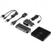 Vezeték nélküli HDMI átviteli készlet, fekete, 30 m 5 GHz 1920 x 1080 pixel, Renkforce