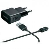 Samsung USB, Micro USB gyári hálózati töltő 2A-es, fekete színű ETA-U90EBEGSTD/OEM