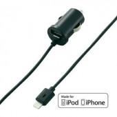 Apple szivargyújtó USB töltő iPhone, iPad, iPod készülékekhez Lightning csatlakozóval 12 V/5VDC 2A VOLTCRAFT CLC-2000USB