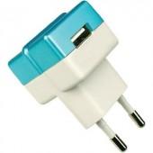 Hálózati USB töltő adapter 100-240V/AC 1000mA HN Power HNP05-ECO-BLUE-C