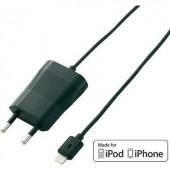Apple iPhone, iPad hálózati töltő, Lightning csatlakozóval 100-240V/AC 5V/DC 1000 mA VOLTCRAFT PLC-1000S