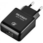 Hálózati USB töltő adapter Qualcomm Quick Charge 3.0 115-230V/AC 5V/DC max.3000 mA VOLTCRAFT QCP-3000