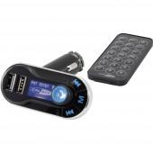 Caliber Audio Technology PMT 557BT FM transzmitter Kihangosító funkcióval, Távirányítóval