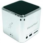 Hangszóró, mini zeneállomás, ezüst színű, Technaxx MusicMan®