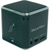 Hangszóró, mini zeneállomás, fekete, Technaxx MusicMan®