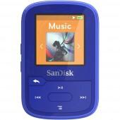 SanDisk MP3 lejátszó 16 GB Kék Rögzítő csíptető, Bluetooth, Vízálló
