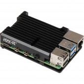 Joy-it ARMOR Case BLOCK SBC ház Alkalmas: Raspberry Pi Passzív hűtővel Fekete