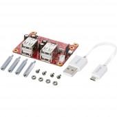 Renkforce USB-Power-Hub + Cable USB-löket-Shield Alkalmas: Raspberry Pi