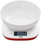 Digitális konyhai mérleg, max. 5 kg, fehér/piros, ADE KE 1412 AMELIE