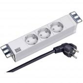 10  Hálózati szekrény elosztó EFB Elektronik ESP.70 2 db fém tartóval 10-os szekrényhez Szürke (RAL 7035)