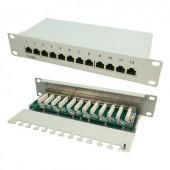 12 portos CAT6 patch panel, 25,4 cm, LogiLink NP0041