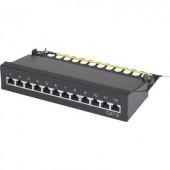 12 portos hálózati patchbox renkforce CAT 6 1 U