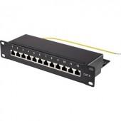 12 portos hálózati patchpanel, Renkforce 1574938 CAT 6 1 U