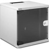 """10"""" -os rack szekrény, hálózati szerverszekrény, zárható üvegajtóval Digitus DN-10-05U-1 5 HE"""