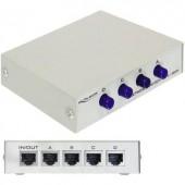 4 portos kapcsolható RJ45 ethernet switch 100 MBit/s Delock 87588