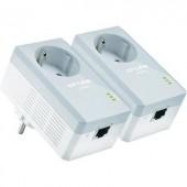 Powerline Starter Kit, konnektoros internet átvivő készlet 500 Mbit/s, TP-Link TL-PA4010P KIT