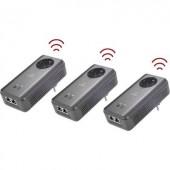 Powerline WLAN Access-Point Network Kit, konnektoros internet átvivő készlet 1,2 Gbit/s, Renkforce PL1200D AC Network