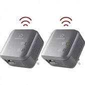 Powerline WLAN Access-Point Starter Kit, konnektoros internet átvivő készlet 500 Mbit/s, Renkforce PL500D AC Starter