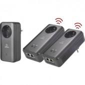 Powerline WLAN Network Kit, konnektoros internet átvivő készlet 1,2 Gbit/s, Renkforce PL1200D WiFi