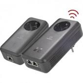 Powerline WLAN Starter Kit, konnektoros internet átvivő készlet 1,2 Gbit/s, Renkforce PL1200D WiFi