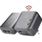 Powerline WLAN Starter Kit, konnektoros internet átvivő készlet 500 Mbit/s, Renkforce PL500D WIFI