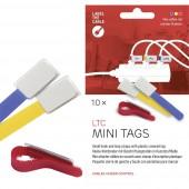 Tépőzáras kábelkötöző jelölővel, 90 x 20 mm, kék/sárga/piros, 10 db