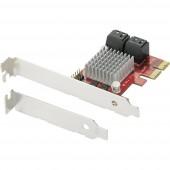 0+4 port SATA III kontroller kártya PCIe Renkforce