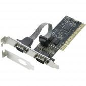 2 port Soros dugaszkártya PCI Renkforce