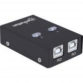 2 port USB 2.0 átkapcsoló Manhattan Fekete
