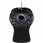 3Dconnexion SpaceMouse Pro USB 3D egér Fekete
