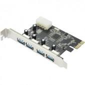 4 portos USB 3.0 kontroller kártya PCI, Renkforce