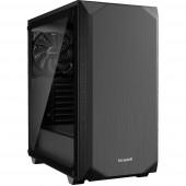 BeQuiet Pure Base 500 Windows Midi torony Számítógép ház, Gaming doboz Fekete 2 előre telepített hűtő, Oldalsó szélvédő, Porszűrő, Hőszigetelt