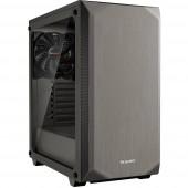BeQuiet Pure Base 500 Windows Midi torony Számítógép ház, Gaming doboz Fémes, Szürke 2 előre telepített hűtő, Oldalsó szélvédő, Porszűrő, Hőszigetelt