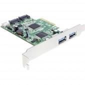 Delock 89359 2 port USB 3.0 kontroller kártya USB-A PCIe
