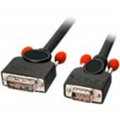 LINDY DVI / VGA Csatlakozókábel [1x DVI dugó,12+5 pólusú - 1x VGA dugó] 2 m Fekete