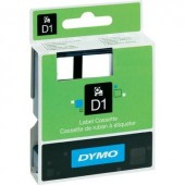 DYMO feliratozószalag D1, 12mm, fehér/fekete, S0720530