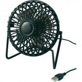 USB-s ventilátor fekete színben védőráccsal