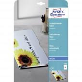Avery-Zweckform 2500 Öntapadó fólia DIN A4 Tintasugaras nyomtató Átlátszó 10 db