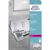Avery-Zweckform 3482 Öntapadó fólia DIN A4 Lézernyomtató Átlátszó 25 db