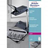 Avery-Zweckform 3552 Overhead-Projektor fólia DIN A4 Lézernyomtató, Másoló Átlátszó 100 db