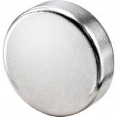 Basetech Mágnes (Ø x Ma) 10 mm x 3 mm Kör Ezüst 10 db BT-2266565