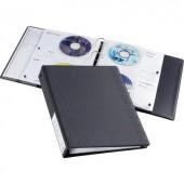 Lefűzhető CD/DVD/Blu Ray mappa, gyűrűs tartó 10 lapos tokkal 40 lemez részére Durable 5227-58