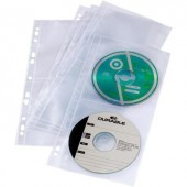 Lefűzhető CD/DVD/Blu Ray tok, tasak 5db-os készlet, 4 lemez részére, átlátszó Durable 5282-19