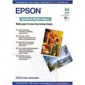 Fénykép papír Epson Archival Matte Paper C13S041342 DIN A4 192 g/m² 50 lap Matt
