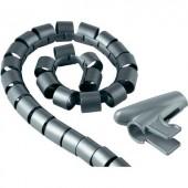 Kábelkötöző, 20 mm, ezüst színű, Hama Easy Cover