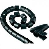 Kábelkötöző, 20 mm, fekete, Hama Easy Cover