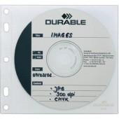 Lefűzhető CD/DVD/Blu Ray tok, tasak 10db-os készlet, 2 lemez részére, átlátszó Durable 5239-19