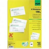 Sigel 3C névjegykártyák, 85 x 55 mm, 190 g/m², 100 db, LP790