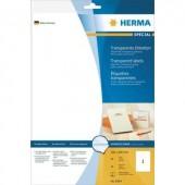 Herma 8964 Etikettek (a4) 210 x 297 mm Fólia Átlátszó 10 db Univerzális etikett