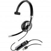 Plantronics Blackwire C710 Telefon headset USB Vezetékes, Mono On Ear Fekete, Ezüst